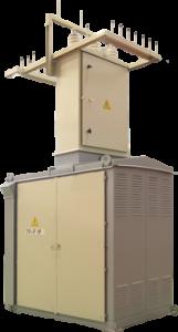 Однотрансформаторная КТП-У1 серии Киоск-ZE (оцинкованная)
